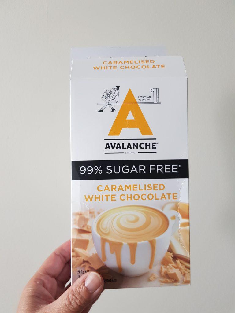 box of Avalanche Caramelised White Chocolate