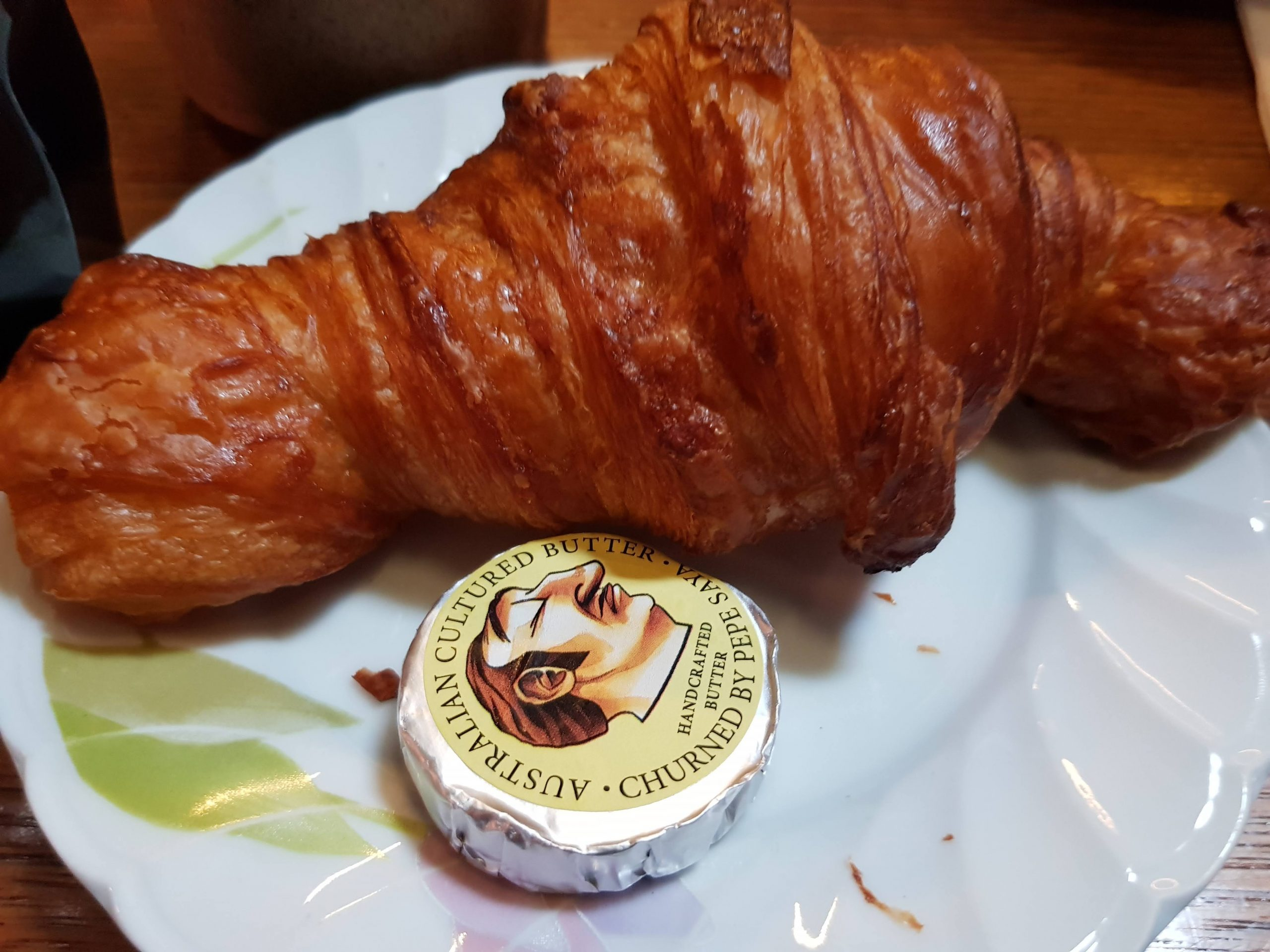 Croissant with pepe saya butter